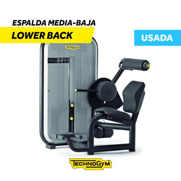 Venta de Lower Back Espalda Media-Baja de Technogym USADA