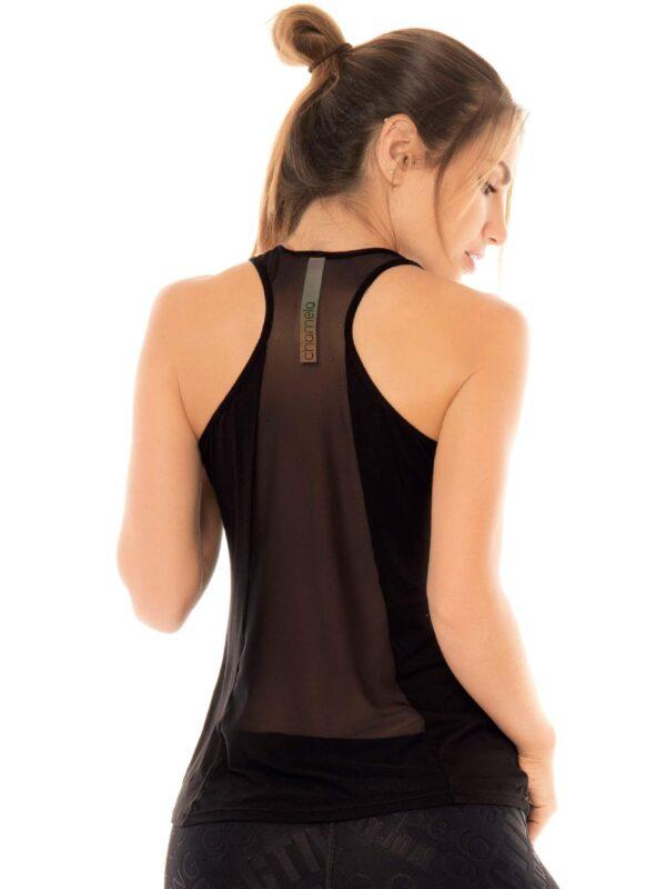 Camiseta Para Mujer Chamela con Corte Tull en Espalda 4