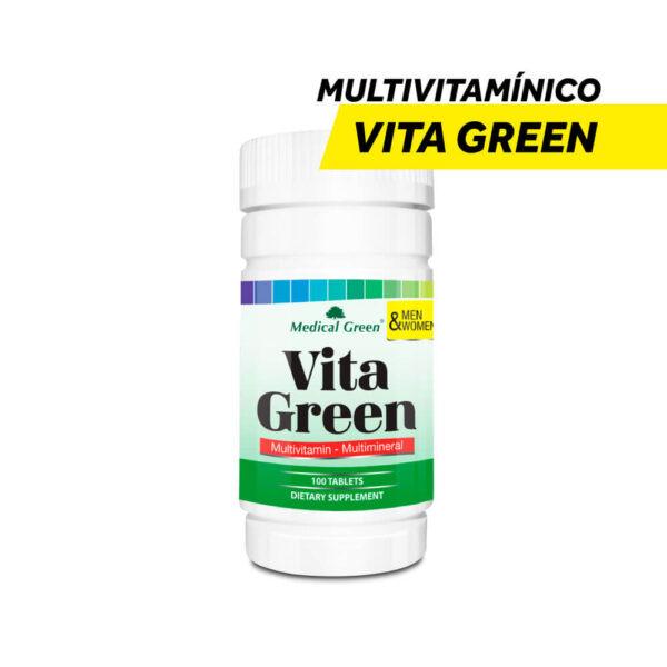 Multivitamínico para Adultos Vita Green x 100 Tabletas