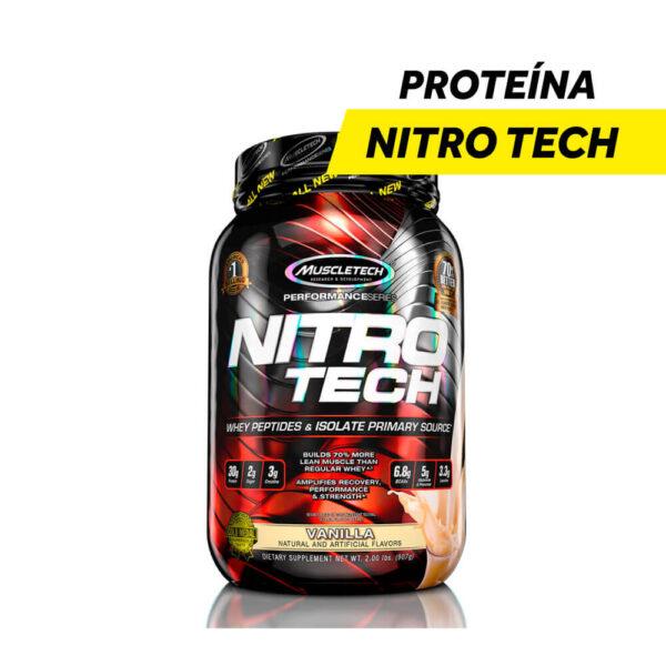 Proteina Nitro Tech x 2 Lbs Sabor Vainilla