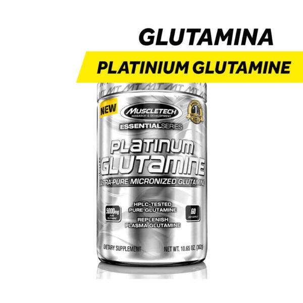 Glutamina - Platinum Glutamine MuscleTech x 302 gr.