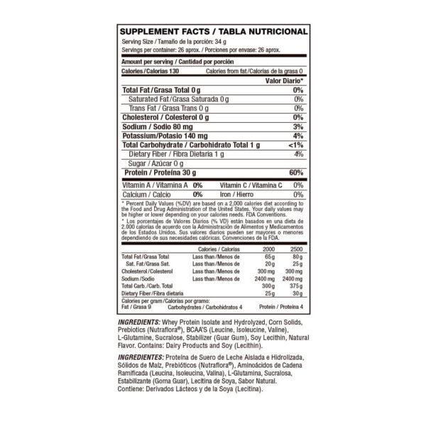 Proteína Aislada e Hidrolizada Isolate Gourmet x 2 lbs 2