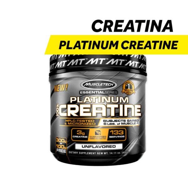 Creatina Platinum Creatiane de MuscleTech x 400 gr.