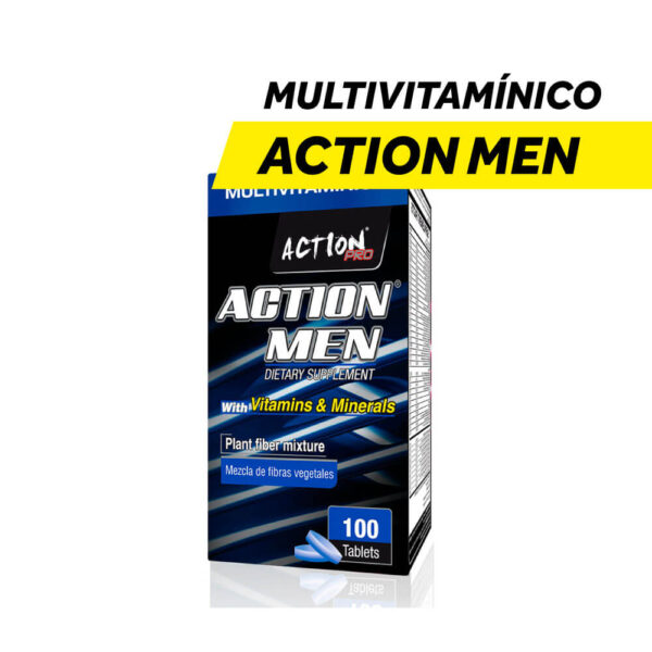 Multivitamínico Action Men x 100 Tabletas
