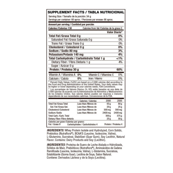Proteína Aislada e Hidrolizada Isolate Gourmet x 5 lbs 2